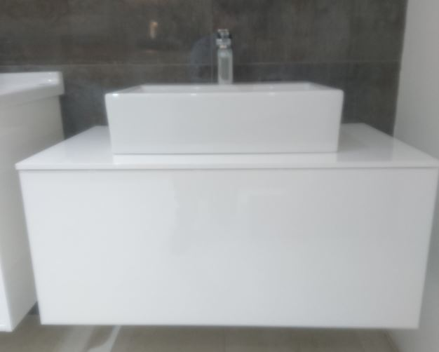 Sottini Ippari 850mm Gloss white unit with 50cm Magra basin