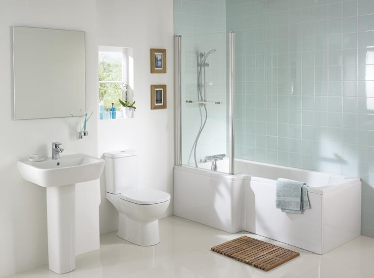 ideal standard concept square showering bath with tempo