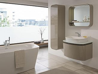 Ideal Standard Dea vanity unit, tall storage and free standing bath